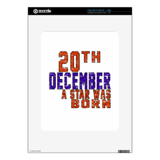 20th December a star was born Decals For The iPad