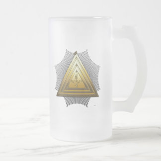 20th Degree: Master of the Symbolic Lodge Frosted Glass Beer Mug
