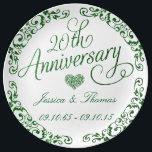 """20th Emerald Wedding Anniversary Decorative Plate<br><div class=""""desc"""">20th Emerald Wedding Anniversary Decorative Plate</div>"""