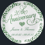"20th Emerald Wedding Anniversary Decorative Plate<br><div class=""desc"">20th Emerald Wedding Anniversary Decorative Plate</div>"