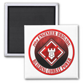 20th Engineer Brigade 003 2 Inch Square Magnet