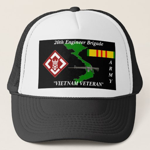 Zazzle 20th Engineers Brigade Vietnam Veteran Ball Caps