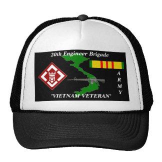 20th Engineers Brigade Vietnam Veteran Ball Caps