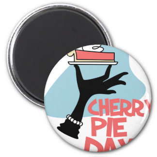 20th February - Cherry Pie Day - Appreciation Day Magnet