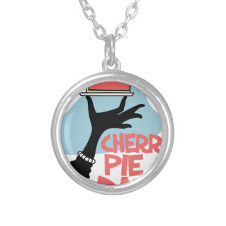 20th February - Cherry Pie Day - Appreciation Day Silver Plated Necklace
