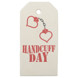 20th February - Handcuff Day Wooden Gift Tags