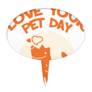 20th February - Love Your Pet Day Cake Topper