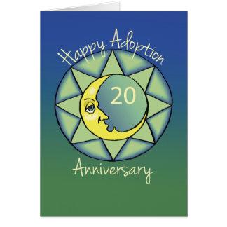 20th Gotcha Day/Adoption Anniversary Moon, Blue Card