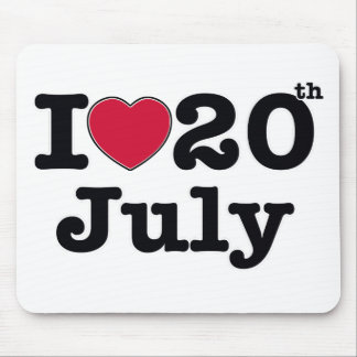 20th  july my day of birthday mouse pad