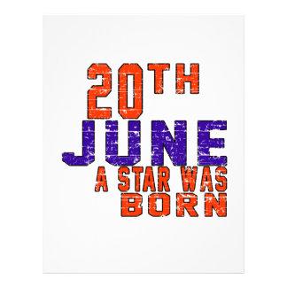 20th June a star was born Custom Letterhead
