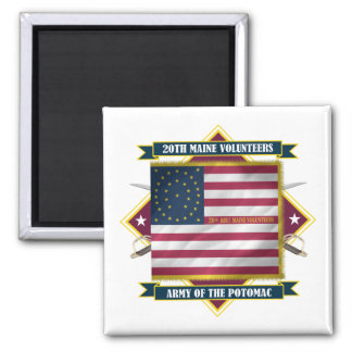 20th Maine 2 Inch Square Magnet