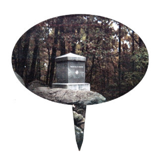 20th Maine Memorial on Little Round Top Gettysburg Cake Topper