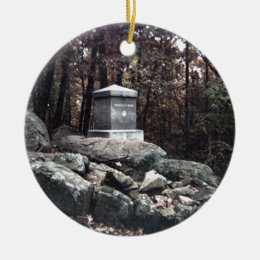 20th Maine Memorial on Little Round Top Gettysburg Ceramic Ornament