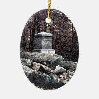 20th Maine Memorial on Little Round Top Gettysburg Ceramic Ornament