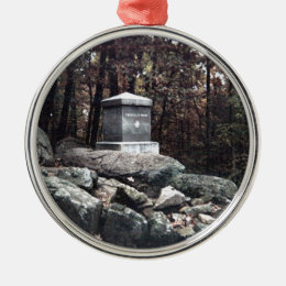 20th Maine Memorial on Little Round Top Gettysburg Metal Ornament