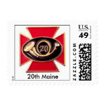 20th Maine Postage Stamp