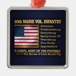 20th Maine Volunteer Infantry (BH) Metal Ornament