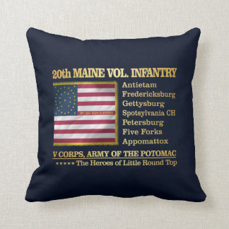 20th Maine Volunteer Infantry (BH) Throw Pillow