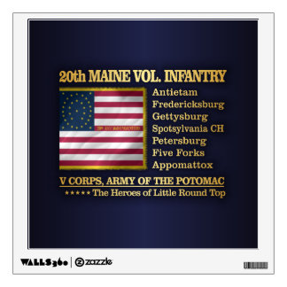 20th Maine Volunteer Infantry (BH) Wall Sticker