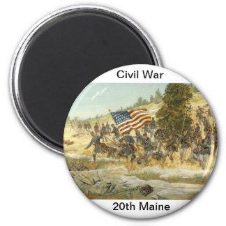 20th maine volunteer infantry regiment 2 inch round magnet