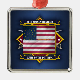 20th Maine Volunteers Metal Ornament