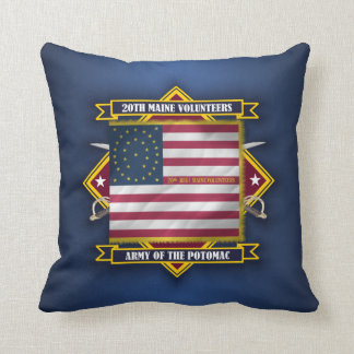 20th Maine Volunteers Throw Pillows