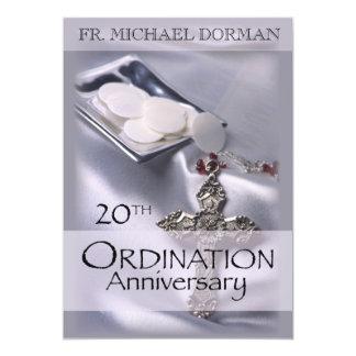 20th Ordination Anniversary Invitation, Custom Nam Invitation