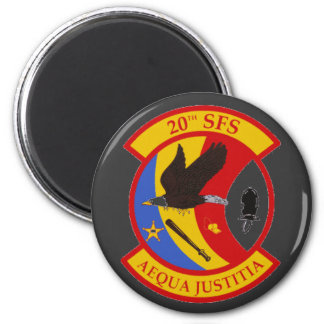 20th Security Forces Squadron Logo-  Magnet