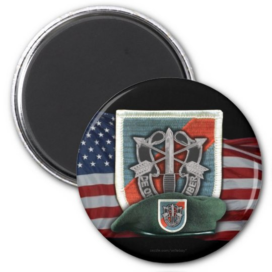 20th special forces flash vietnam vets magnet