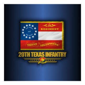 20th Texas Infantry Poster