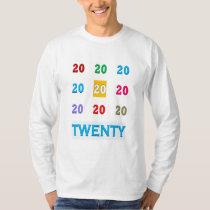 20th Twentieth xx Birthday Anniversary ELEGANT Gif T-Shirt