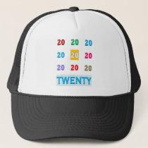 20th Twentieth xx Birthday Anniversary ELEGANT Gif Trucker Hat