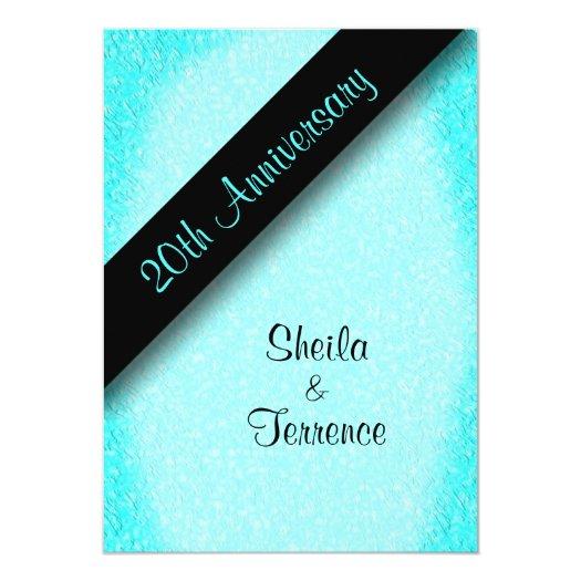 20th Wedding Anniversary 5x7 Paper Invitation Card