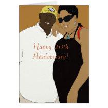 20th wedding anniversary card