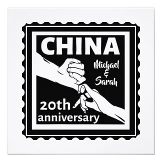 20th wedding anniversary China traditional Invitation