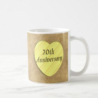 20th Wedding Anniversary Classic White Coffee Mug