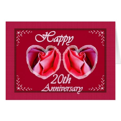 20th Wedding Anniversary Gift Ideas Fern Filled Greeting Card Zazzle