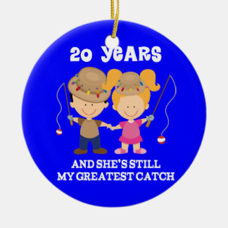 20th Wedding Anniversary Funny Gift For Him Christmas Tree Ornaments