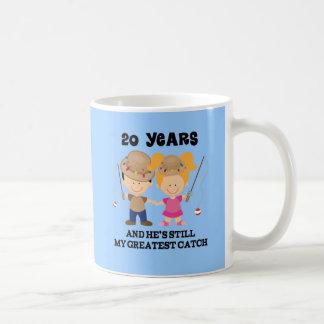 20th Wedding Anniversary Gift For Her Classic White Coffee Mug