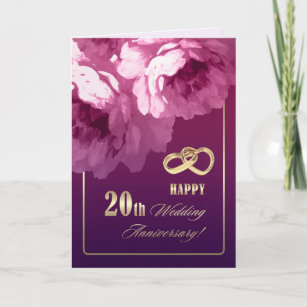 20th Wedding Anniversary Greeting Cards