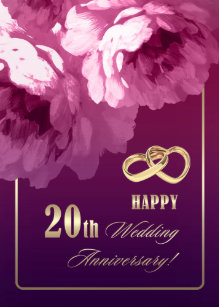 Wedding anniversary cards zazzle 20th wedding anniversary greeting cards m4hsunfo