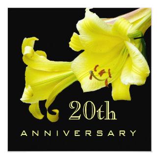 20th Wedding Anniversary Invitation