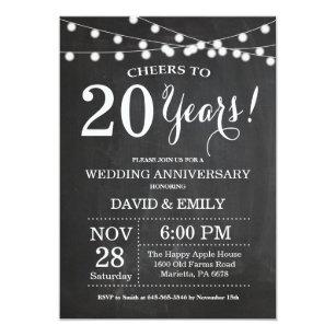 20th Anniversary Wedding Invitations Zazzle