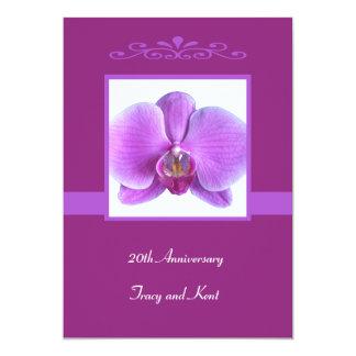 20th Wedding Anniversary Invitation Orchid