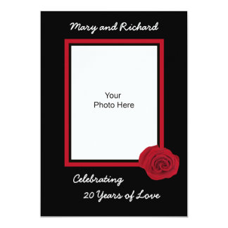 20th Wedding Anniversary Invitation Photo
