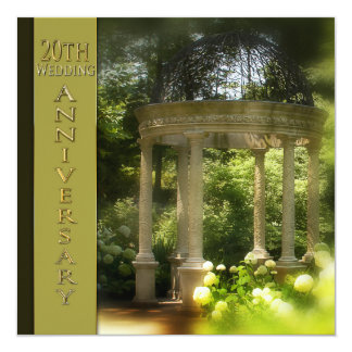 20th Wedding Anniversary Invitations - Gazebo