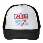 20th Wedding Anniversary Mesh Hats