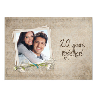 20th Wedding Anniversary Open House Card
