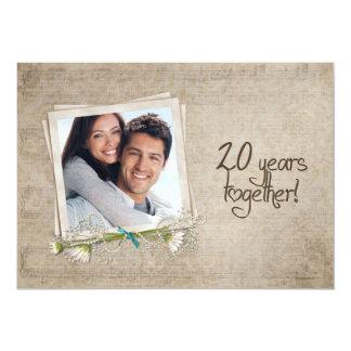 20th Wedding Anniversary Open House Invitation