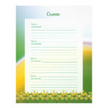 20th Wedding Anniversary Party Guest Book Pages Letterhead Template